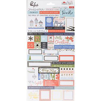December Days Cardstock Stickers 5.5