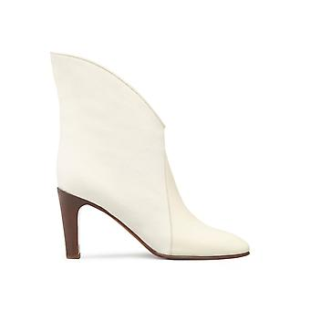 Chloé ladies CH27302E55IA102 beige leather ankle boots