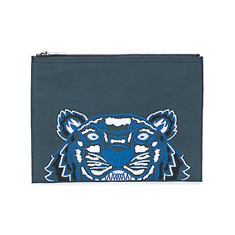 Kenzo men's F855PM302F2097 blue/grey polyester clutch
