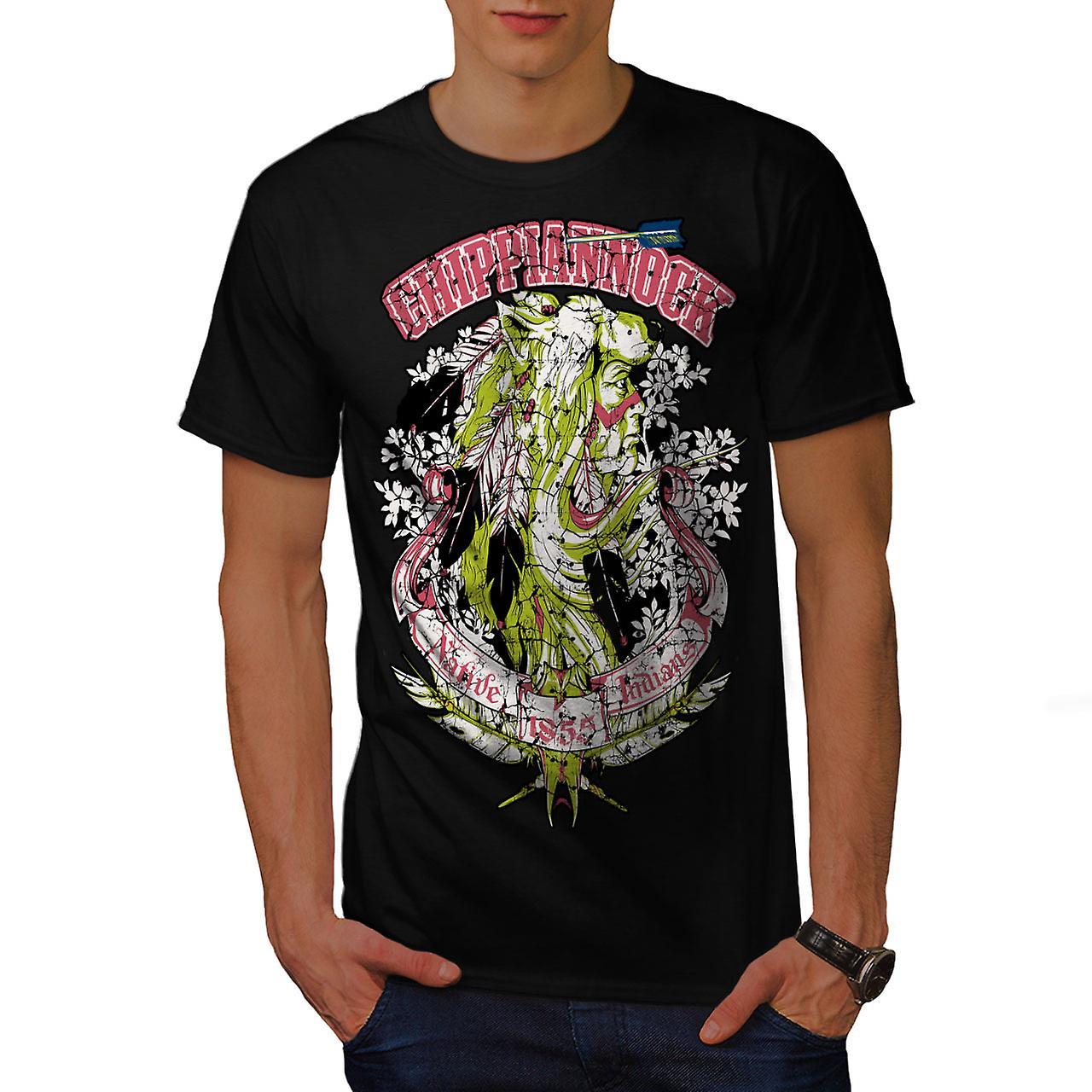 Native Indian Art Fantasy Men Black T-shirt | Wellcoda