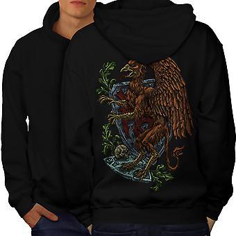 Griffin Fantasy Mystic uomini BlackHoodie Back | Wellcoda