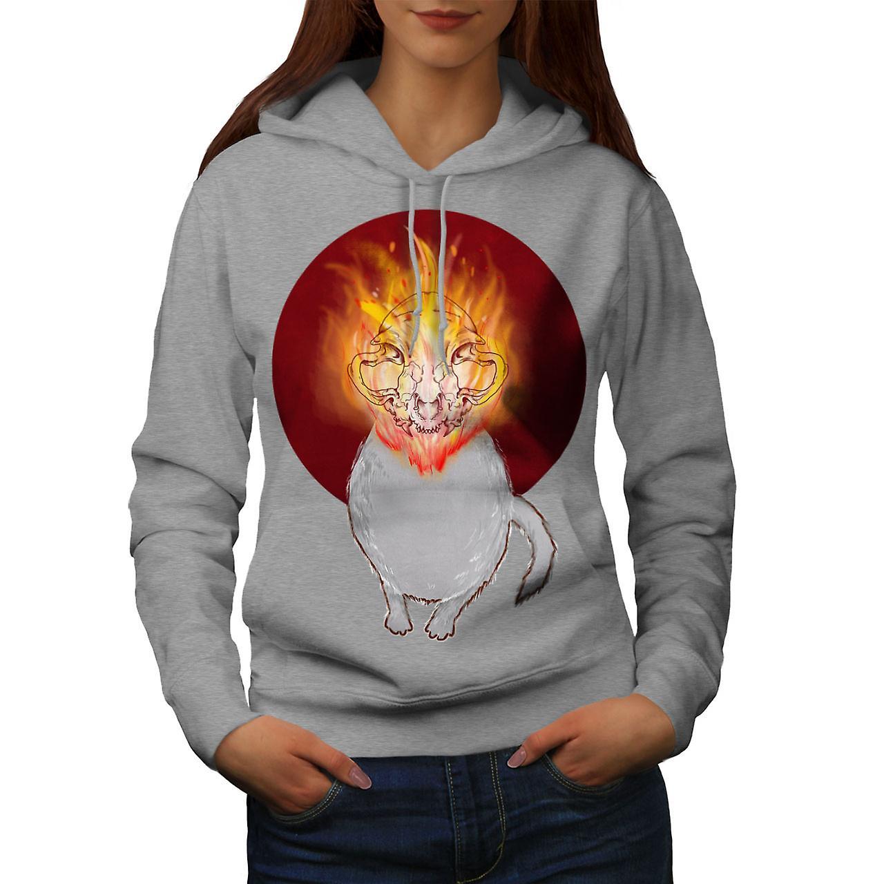 L'enfer Satan chat Animal femmes grisHoodie