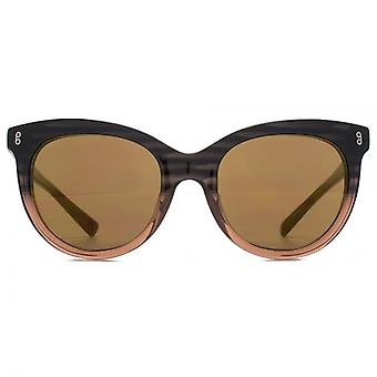 Hook LDN Juke Retro Tear-Drop Acetate Sunglasses In Blue Tortoiseshell