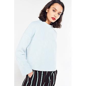 Side Party Dropped Shoulder Knit Top