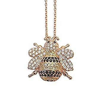 Bee necklace 18 ct gold plated on sterling silver