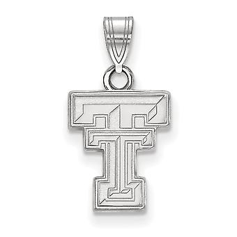 925 Sterling Silver Texas Tech University Charm Pendant - Small