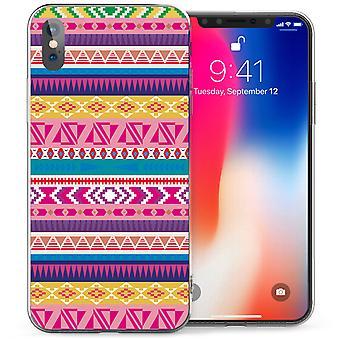 iPhonegeval X Azteekse etnische Fairisle TPU Gel - geel / roze