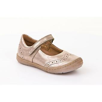 Froddo Froddo G3140069-5 Girls Gold Leather Mary Jane Shoe With Scuff Protection
