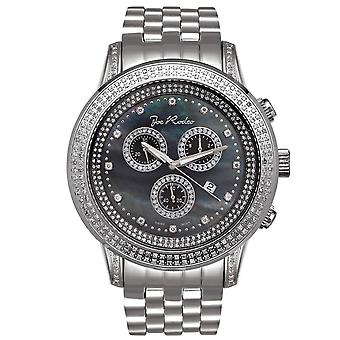 Joe Rodeo diamond men's watch - SICILY silver 1.8 ctw