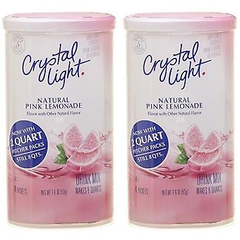 Crystal Light Pink Lemonade Drink Mix Pitcher Packs 2 Pack