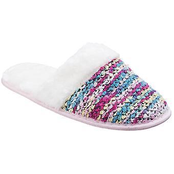 Divaz Womens/Ladies Divaz Salzburg Knittted Fluffy Mule Slippers