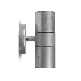 Garden Trading St Ives Up And Down Exterior Wall Light - Galvanised