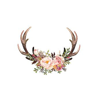Floral Antlers Poster Print by Tara Moss