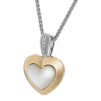 Orphelia Silber 925 Kette mit Anhänger Herz vergoldet Mop & Zirkonium ZH-7289/G
