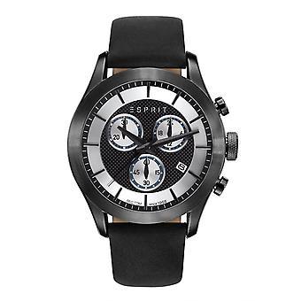 ESPRIT mens watch bracelet watch Matthew black Leder ES108411002