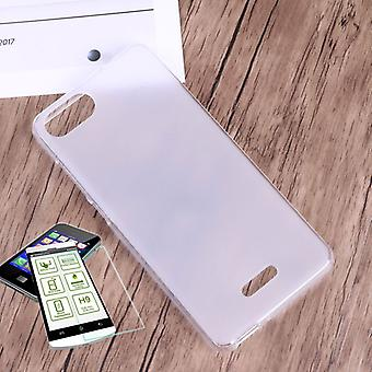 Silikoncase transparent + 0.3 H9 tempered glass for WIKO Tommy 3 bag shell new