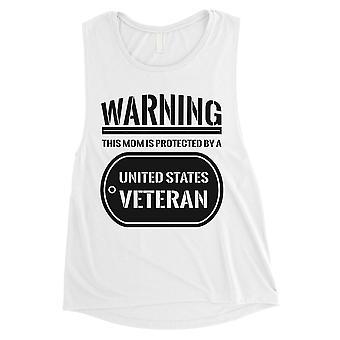 Geschützt durch erfahrene Damen weißen Muskel Tank-Top stolz Armee Mom