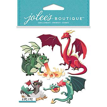 Jolee's Boutique Dimensional Stickers-Dragons