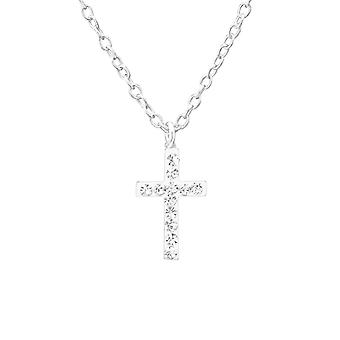 Cross - 925 Sterling Silver Jewelled Necklaces - W35267x