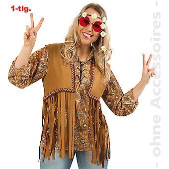 Vest hippie vest men's hippie fringe vest flower child Mr costume