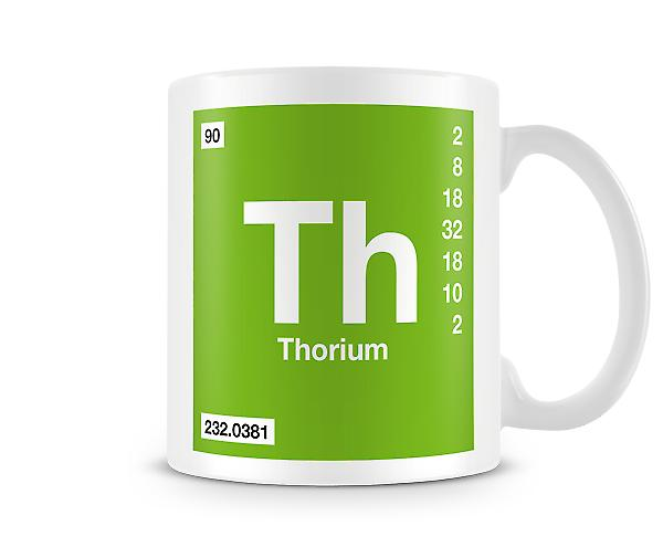 Element Symbol 090 Th - Thorium Printed Mug
