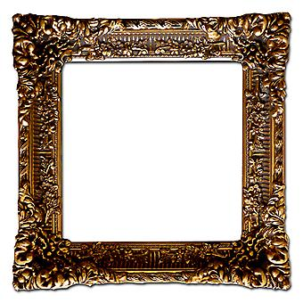 Large wooden frame in gold, interior dimensions 50 x 50 cm
