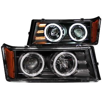 Anzo USA 111079 Chevrolet/GMC Projector/Black Clear Halo With Ccfl Headlight Assembly - (Sold in Pairs)