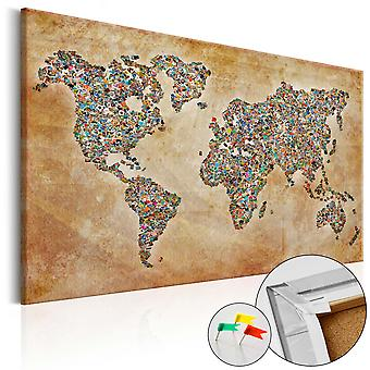 Decorative Pinboard - Postcards from the World [Cork Map]