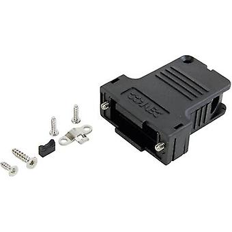 D-SUB housing Number of pins: 9 Plastic 45 ° Black Conec 165X14559XE 1 pc(s)