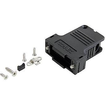 D-SUB housing Number of pins: 9 Plastic 45 ° Black