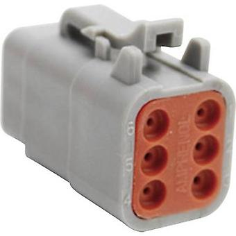 Amphenol ATM06 6S Bullet connector Socket, straight Series (connectors): ATM Total number of pins: 6 1 pc(s)