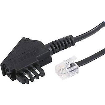 Hama Phone Cable [1x TAE-F plug - 1x RJ11 6p4c plug] 1.50 m Black