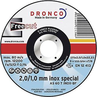 Cutting disc (straight) 115 mm 22.2 mm Dronco AS 60 T INOX 1111340 1 pc(s)