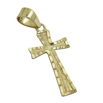الماس عبر قلادة الصليب قلادة قلادة الذهب 375، صليب، 9 كيلوطن الذهب
