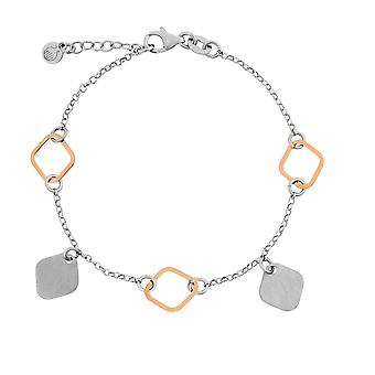 Orphelia Silver 925 Bracelet with Charms Bicolor 17+1.5 cm  ZA-7391