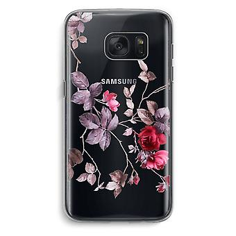 Samsung Galaxy S7 Transparent Case (Soft) - Pretty flowers