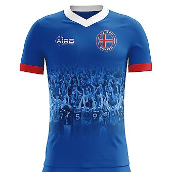 2018-2019 Iceland Supporters Home Concept Football Shirt