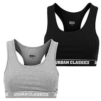 Urban classics ladies Bustier bra logo