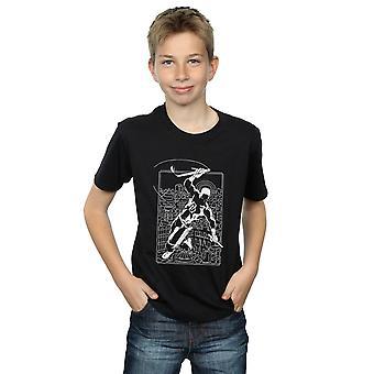 Marvel Universe jungen Draufgänger Silhouette T-Shirt