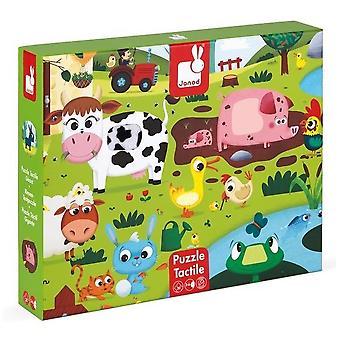 Janod tactiele puzzel boerderijdieren 3-6 jaar