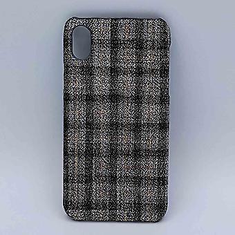 iPhone XR-Beutel-Stoff-Tartan-grau