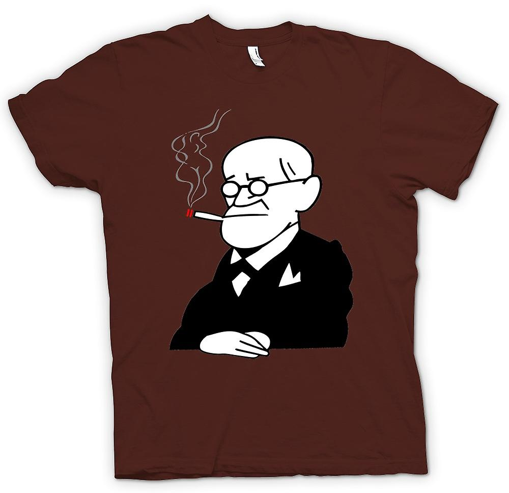 Mens T-shirt - Sigmund Freud - Psychology - Cartoon