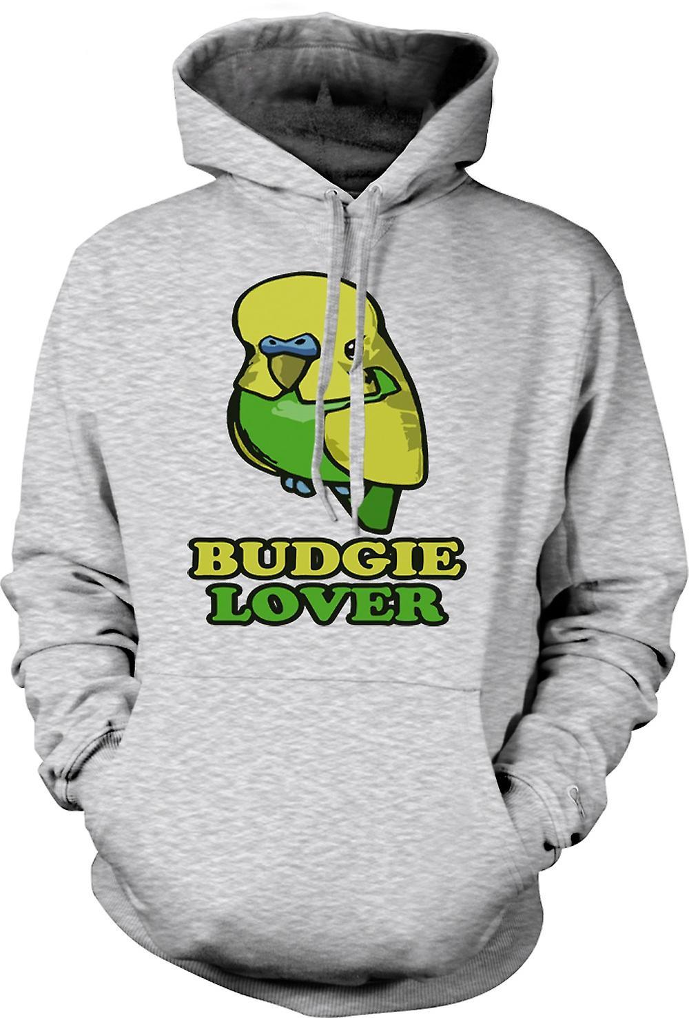 Mens Hoodie - Budgie Lover