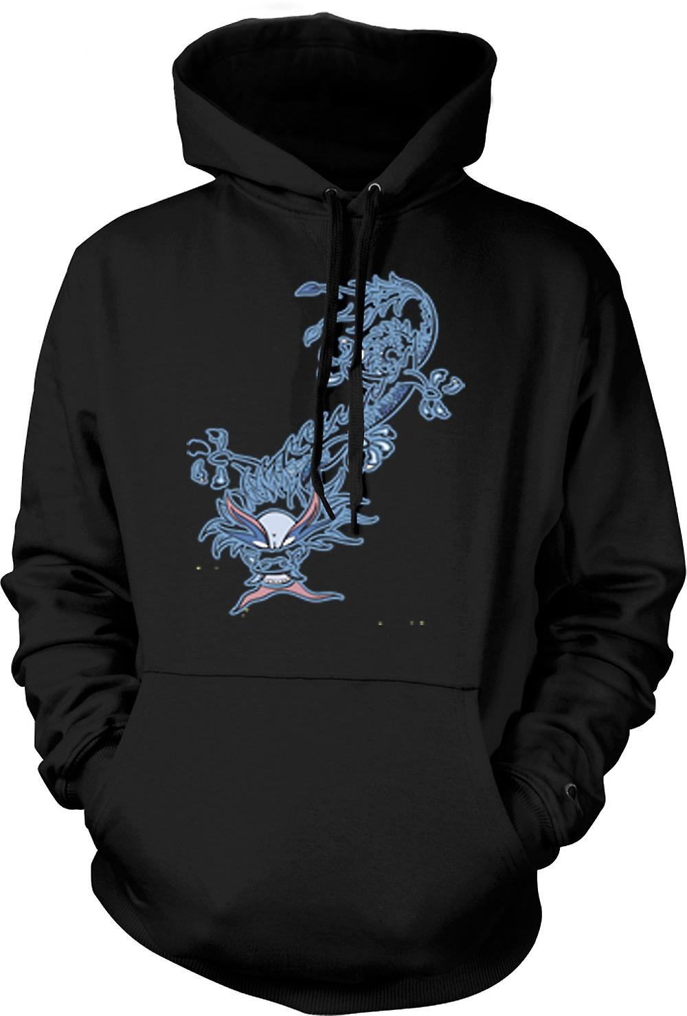 Mens Hoodie - Oriental Tribal Dragon