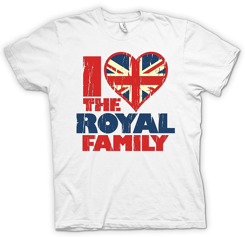Mens T-shirt - I Love The Royal Family