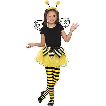 8c62819f610b7 Pszczoła Hummel ustawić dziewczyna kostium akcesoriów Tutu włosów zespół  skrzydło karnawałowe trzmiel Kit