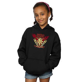 Marvel Girls Captain Marvel Protector Of The Skies Hoodie