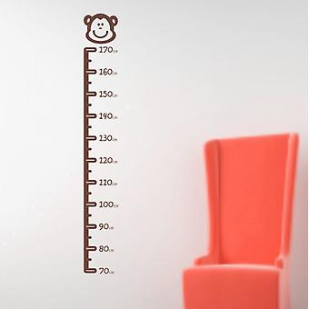 Monky height chart wall sticker