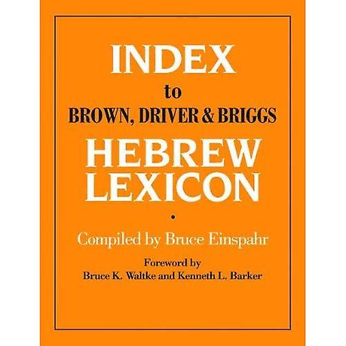 Index to marron, Driver and Briggs Hebrew Lexicon
