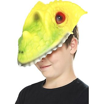 Childrens Crocodile Head Face Mask Fancy Dress Accessory